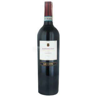Lenotti Bardolino Classico, Вино червоне напівсухе, 0,75 л