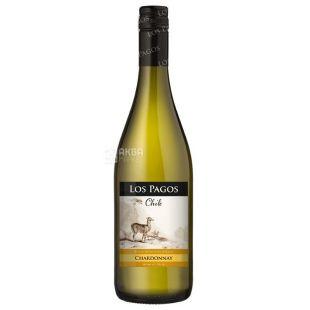 Los Pagos Шардоне, Вино белое сухое, 0,75 л