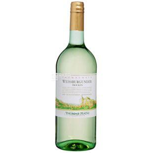 Thomas Rath Weissburgunder, Вино белое, 1 л