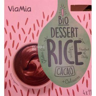 Via Mia, Десерт рисовий Какао органічний, 4х110 г