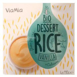 Via Mia, Десерт рисовий Ваніль органічний, 4х110 г