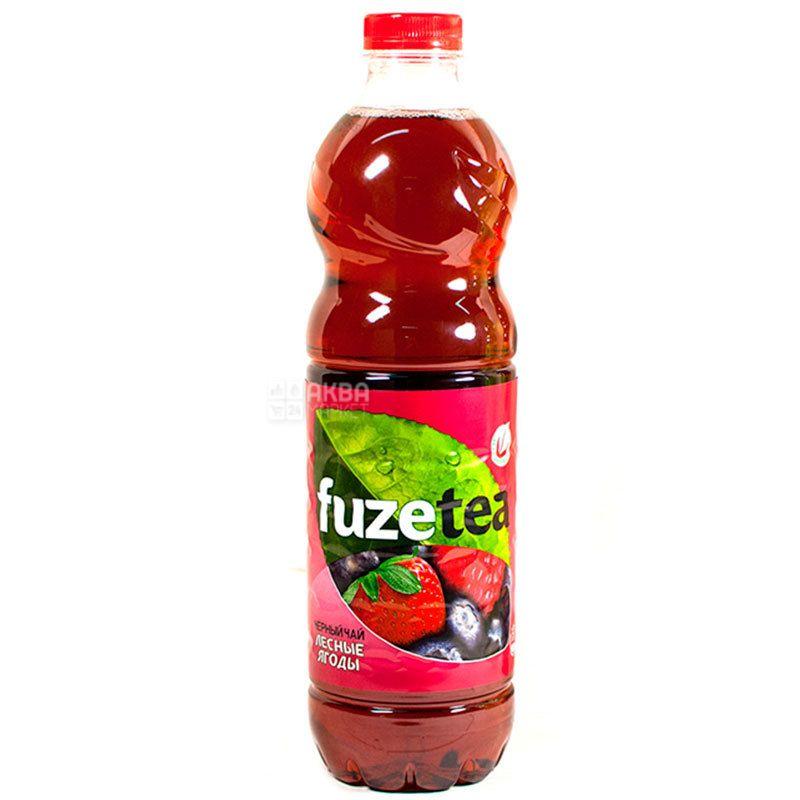 Fuzetea, 1,5 л, Чай Фьюзті холодний, чорний, Лісові ягоди