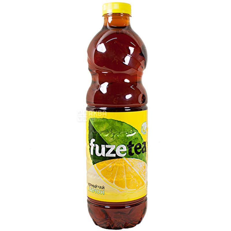 Fuzetea, 1 л, Чай Фьюзті холодний, чорний, Лимон