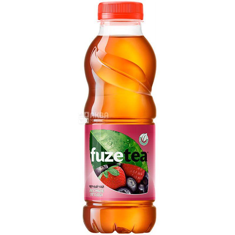 Fuzetea, 0,5 л, Чай Фьюзти холодный, черный, Лесные ягоды