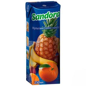 Sandora, Мультивитамин, 0,25 л, Сандора, Нектар натуральный