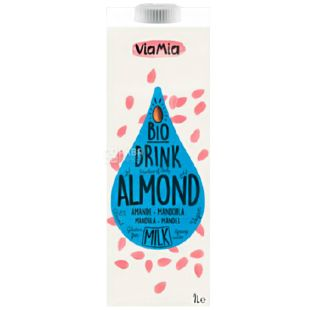 Via Mia Organic Almond Sugar Free Drink, 1 L