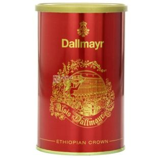 Dallmayr, Ethiopia Crown, 250 г, Кава Далмайер Ефіопія Краун, середньої обсмажування, мелений, ж/б