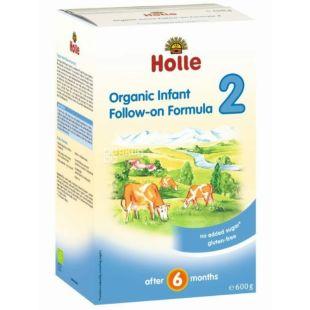 Holle, Суміш дитяча молочна органічна №2, С 6 місяців, 600 г