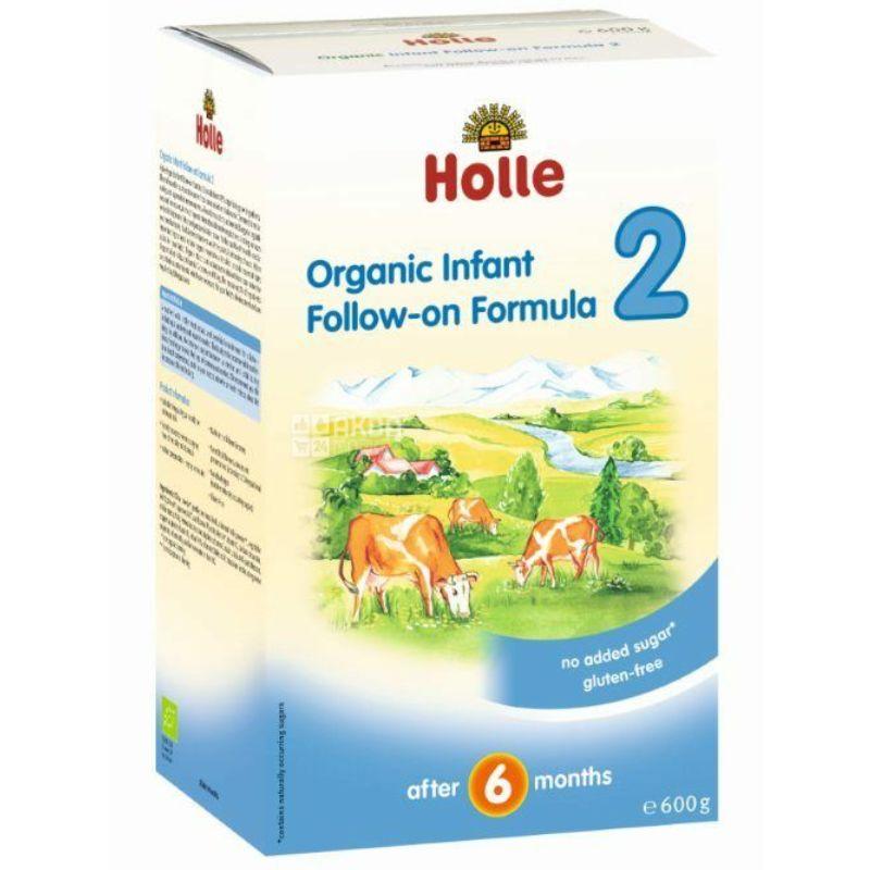 Holle, Смесь детская молочная органическая №2, С 6 месяцев, 600 г