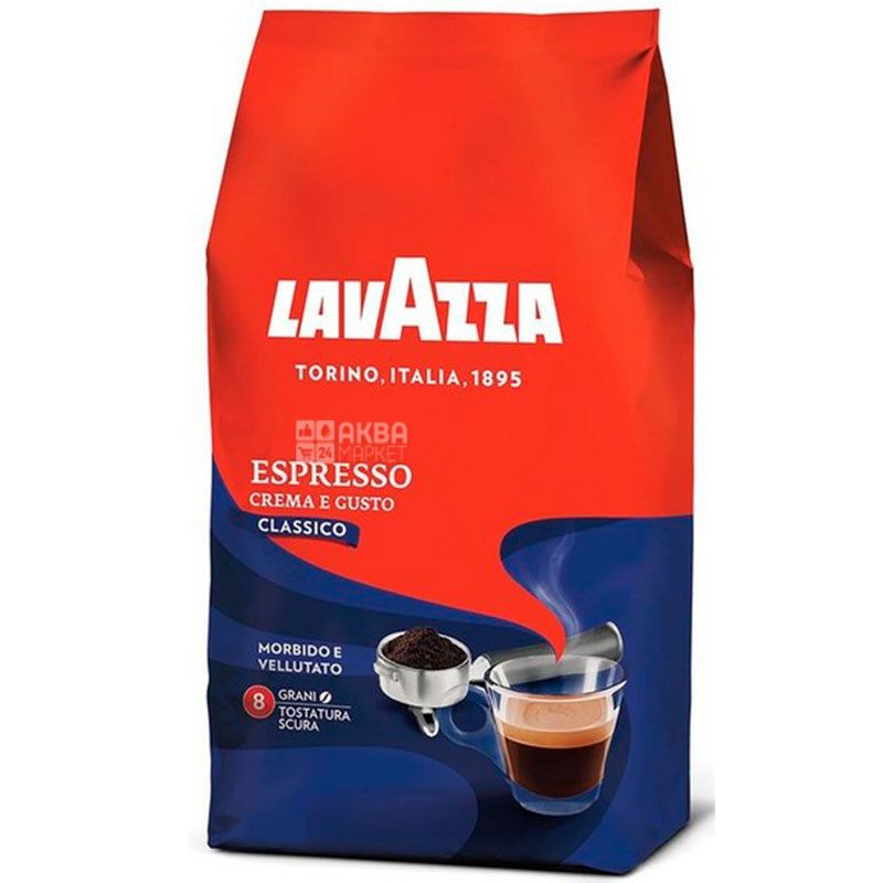 Lavazza, Espresso Crema e Gusto, 1 кг, Кава Лаваца, Еспресо Крему е Густо, темного обсмаження, в зернах