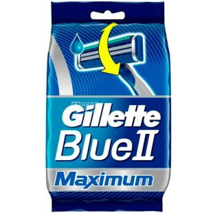 Gillette, 6 + 2 pcs., Disposable machine, BLUE 2 Max