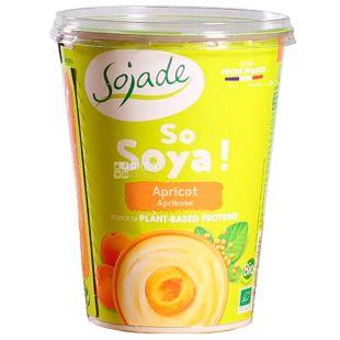 Sojade So Soya Apricot Organic, 400 г, Сояде, Йогурт соевый органический, абрикос, без глютена и лактозы