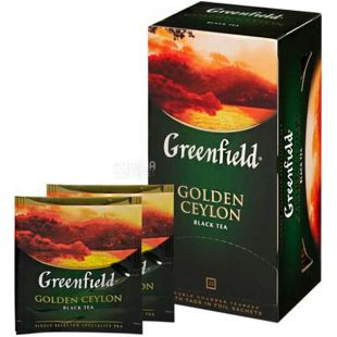 Greenfield Golden Ceylon, 25 пак., Чай Грінфілд, Голден Цейлон, чорний