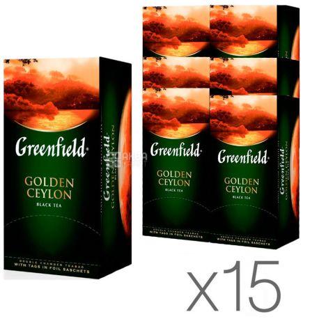 Greenfield Golden Ceylon, 25 пак., Чай Гринфилд, Голден Цейлон, черный, Упаковка 15 шт.