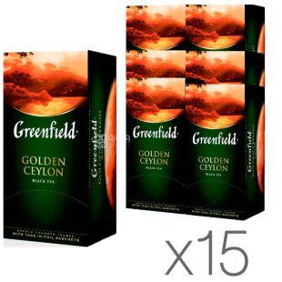 Greenfield Golden Ceylon, 25 пак., Чай Грінфілд, Голден Цейлон, чорний, Упаковка 15 шт.