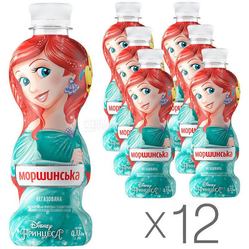 Моршинская, Принцессы, 0,33 л, Упаковка 12 шт., Вода негазированная, ПЭТ