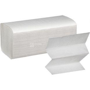 Fesko, 150 шт., Серветки косметичні Феско, V- складання, двошарові, 21х20 см, білі