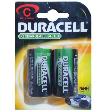 Duracell, C, 2200 mAh, 2 шт., Аккумуляторы ULTRA