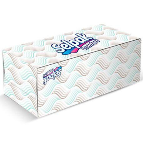 Selpak Comfort, 150 шт., Серветки косметичні Селпак Комфорт, двошарові, 21х21 см, білі