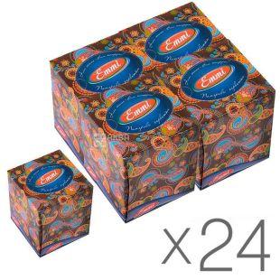 Mirus Cube, 24 упаковки по 80 шт., Салфетки косметические Мирус, 3-х слойные, 20х17 см, белые