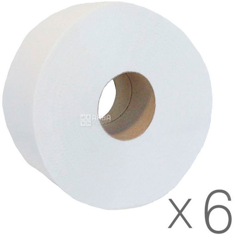 Bima Jumbo, 6 рул., Туалетная бумага Бима Джамбо, 2-х слойная, 100 м