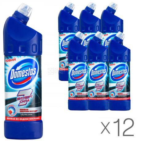 Domestos, Засіб для чищення унітазу, Експерт сила, 1 л, Упаковка 12 шт.