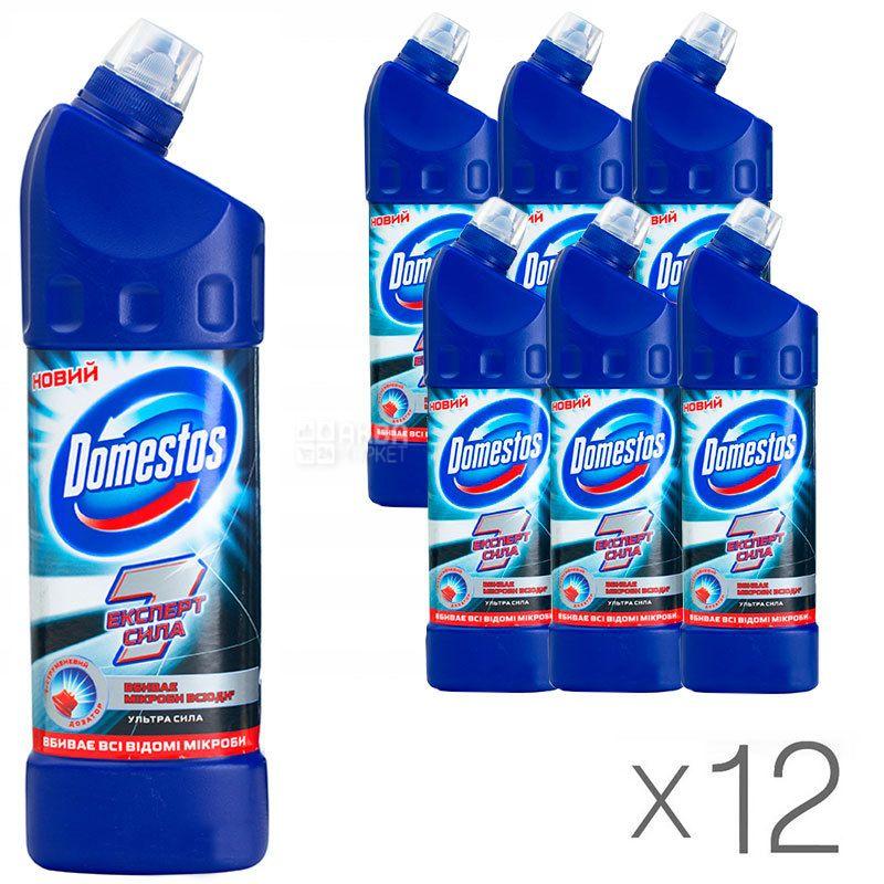 Domestos, Средство для чистки унитаза, Эксперт сила, 1 л, Упаковка 12 шт.