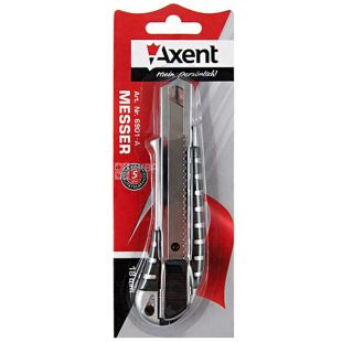 Axent, metal stationery knife, 18 mm