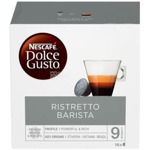 Nescafe Dolce Gusto Ristretto Barista, 16 шт., Кофе Нескафе Ристретто Бариста, темной обжарки, в капсулах
