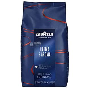 Lavazza, Crema e Aroma, 1 кг, Кава Лаваца, Крему е Арома, середнього обсмаження, в зернах