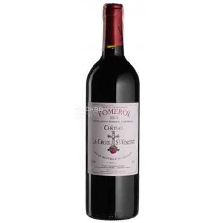 Chateau La Croix Saint Vincent  2012, Вино красное сухое, 0,75 л