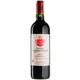 Chateau Grange-Neuve 2016, Вино красное сухое, 0,75 л