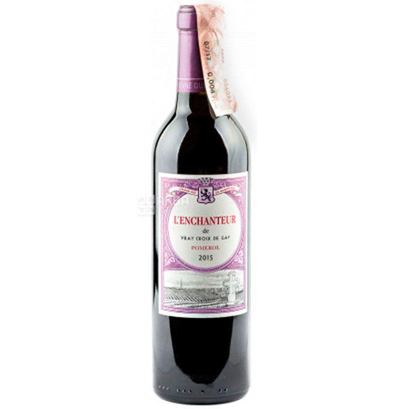 Chateau Siaurac L'enchanteur Vray Croix De Gay 2015, Вино красное сухое, 0,375 л