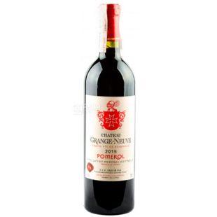 Chateau Grange-Neuve 2015, Вино красное сухое, 0,75 л