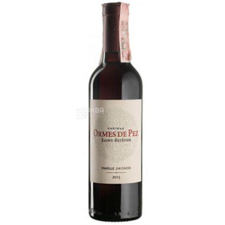 Chateau Ormes de Pez, Вино красное сухое, 0,375 л