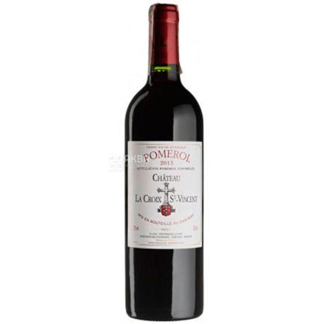 Chateau La Croix Saint Vincent  2013, Вино красное сухое, 0,75 л
