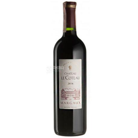 Chateau Le Coteau 2014, Вино красное сухое, 0,75 л