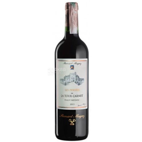 Chateau Les Pensees De La Tour Carnet 2015, Вино красное сухое, 0,75 л