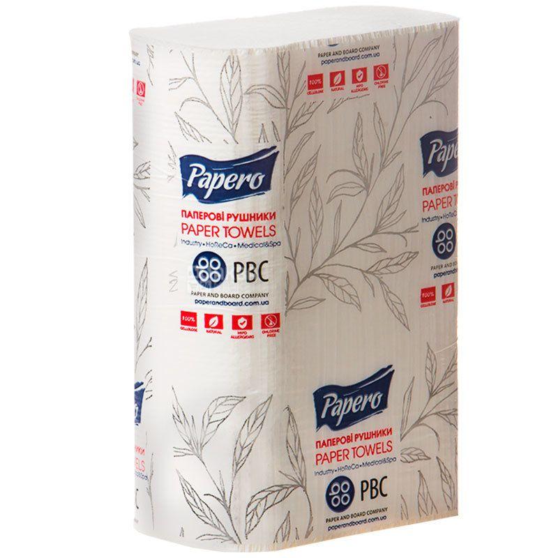 КПК, 200 листов, Бумажные полотенца, 2-х слойные, ZZ-сложения, белые, 20х21 см