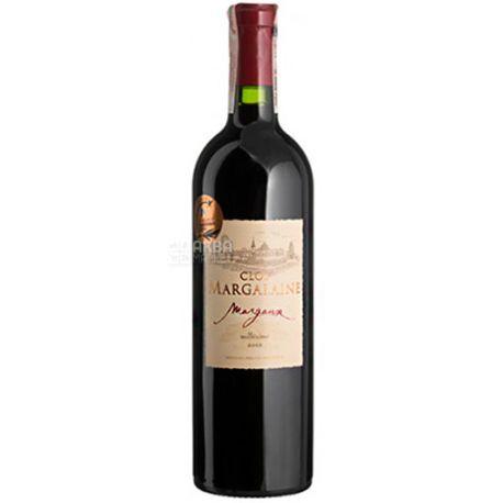 Clos Margalaine 2012, Вино красное сухое, 0,75 л