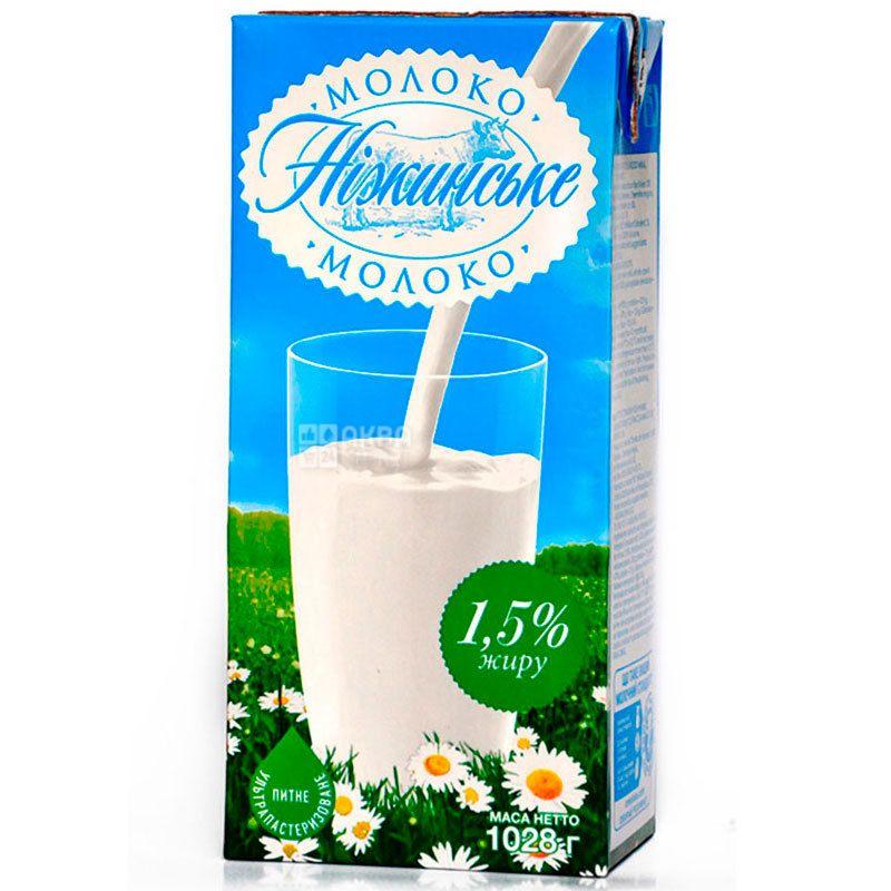 Нежинское, Молоко ультрапастеризованное 1,5%, 1 л
