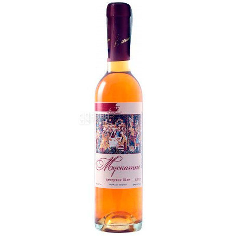 Колонист, Мускатное, Вино белое десертное, 0,375 л