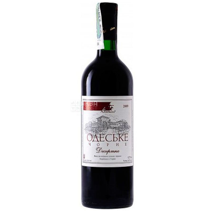 Колонист, Одесское черное, Вино красное десертное, 0,75 л