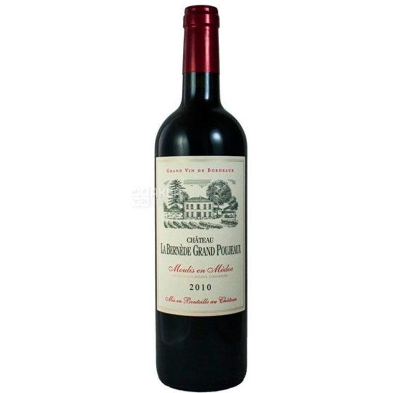 Chateau, La Bernede Grand Poujeaux, Вино красное сухое, 0,75 л