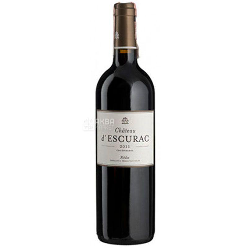 Chateau d'Escurac, Вино красное сухое, 0,75 л