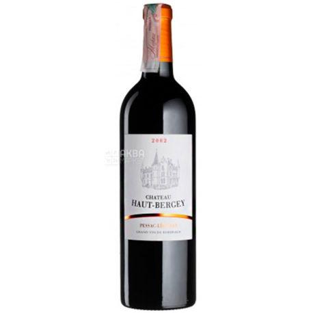 Chateau Haut Bergey 2002, Вино красное сухое, 0,75 л
