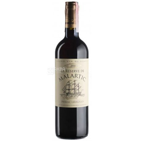 Chateau Malartic-Lagraviere Reserve de Malartic 2014, Вино красное сухое, 0,75 л