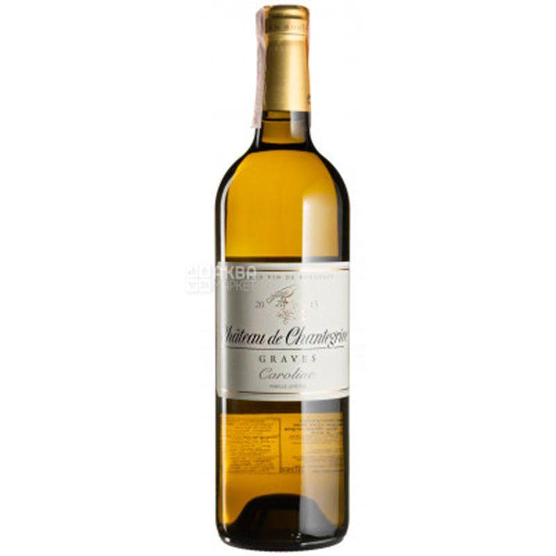 Cuvee Chantegrive Caroline Blanc 2015, Вино белое сухое, 0,75 л