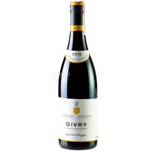 Doudet Naudin Givry 2016, Вино червоне сухе, 0,75 л