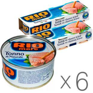 Rio Mare Tonno al Naturale, Тунець у власному соку, 80 г, упаковка 6 шт.